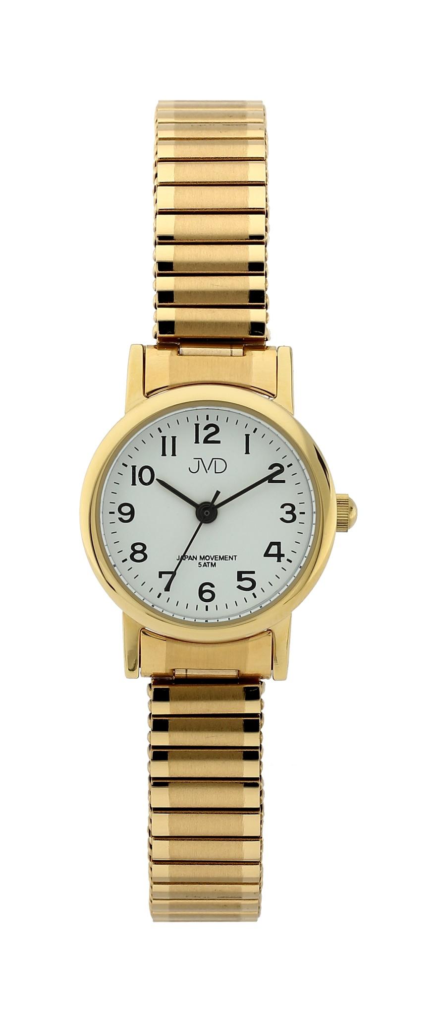 Dámské elegantní zlacené náramkové hodinky JVD steel J4010.5 3c2dcdd408