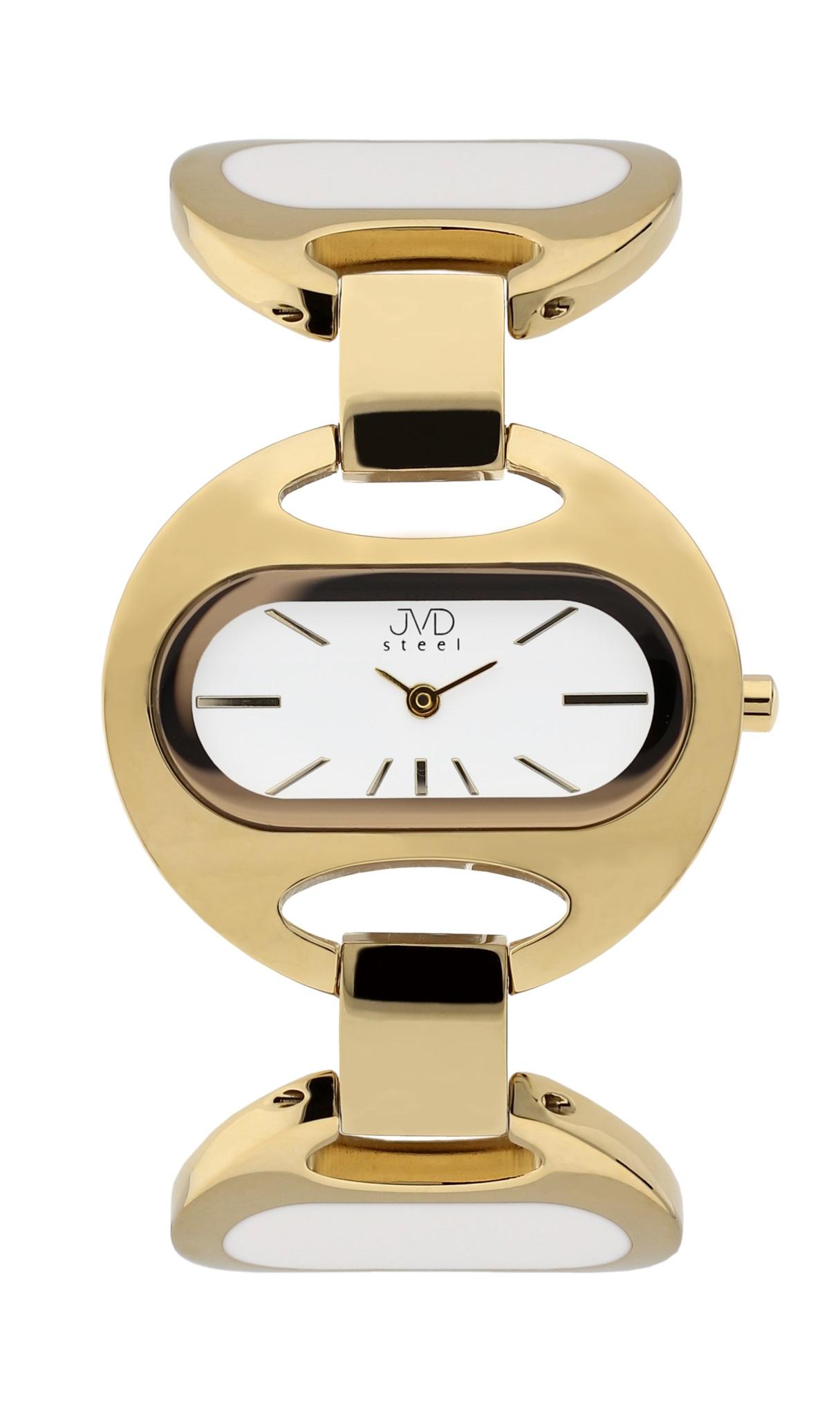 Luxusní dámské ocelové zlacené hodinky JVD steel J4118.3 - 5ATM (POŠTOVNÉ ZDARMA!!)