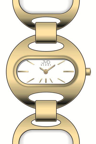 Luxusní dámské ocelové zlacené hodinky JVD steel J4118.3 - 5ATM