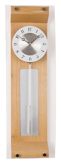 Kyvadlové dřevěné skleněné hodiny JVD quartz N290/68