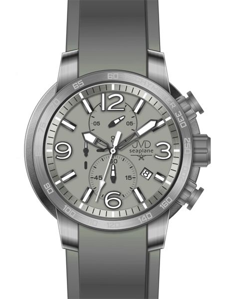 Vysoce odolené sportovné vodotěsné hodinky JVD seaplane W30.1 chronograf