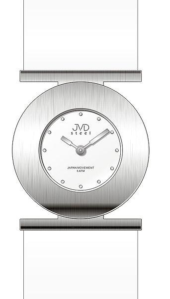 Dámské ocelové nerezové náramkové hodinky JVD steel J4104.1
