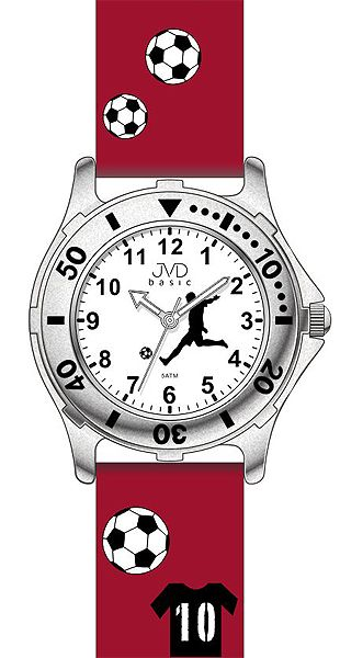 Červené dětské chlapecké náramkové hodinky JVD basic J7100.9