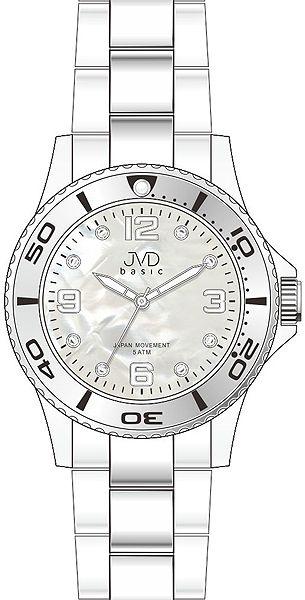 Zlacené voděodolené ocelové Náramkové hodinky JVD basic J6006.2 - 5ATM