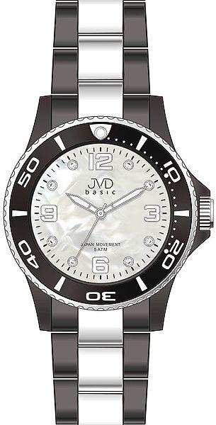 Voděodolené ocelové náramkové hodinky JVD basic J6006.3 - 5ATM (POŠTOVNÉ ZDARMA!!)