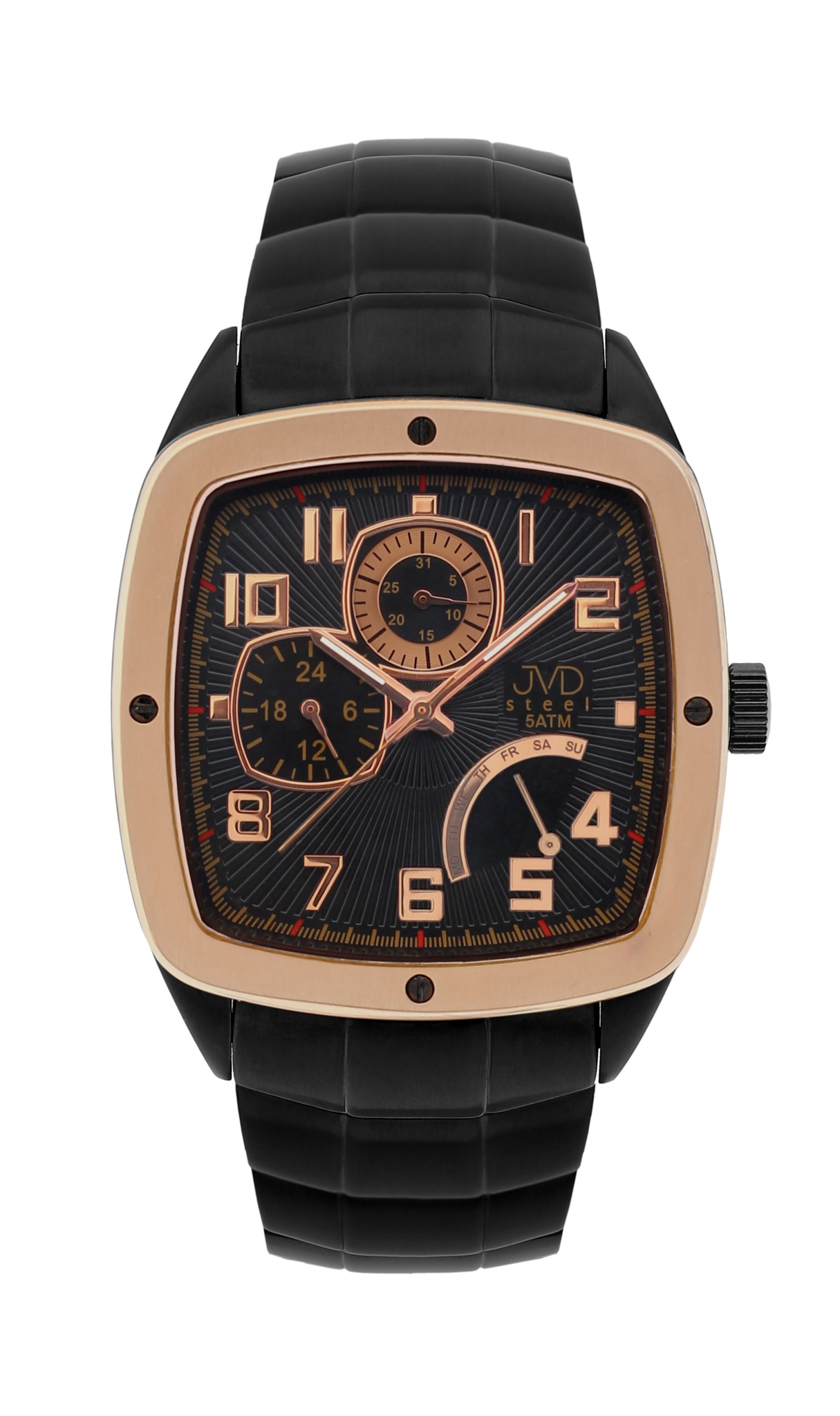 Pánské vodoodolené hranaté exkluzivní náramkové hodinky J1021.1 - 5ATM