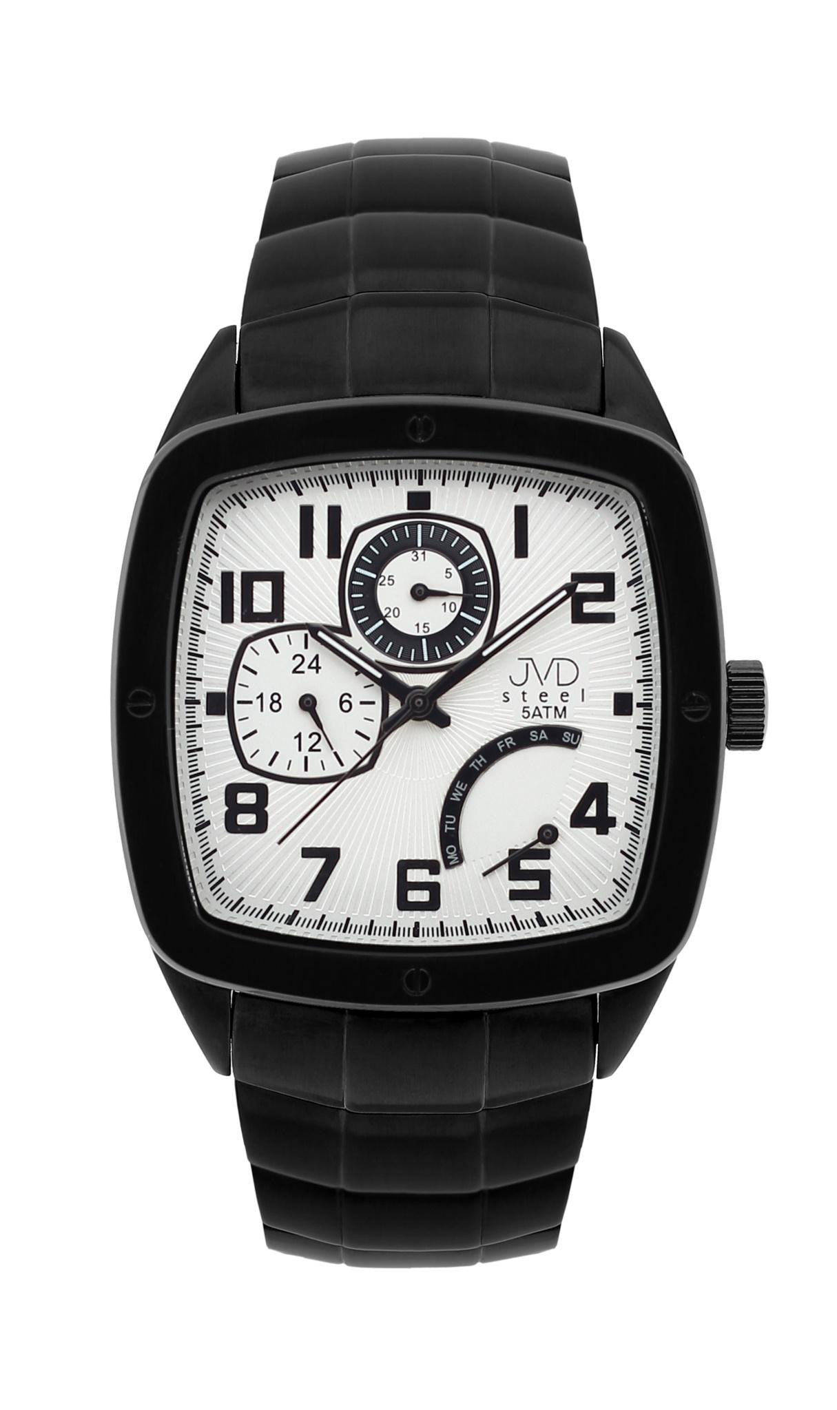 Pánské vodoodolené hranaté exkluzivní náramkové hodinky J1021.2 - 5ATM (POŠTOVNÉ ZDARMA!!)