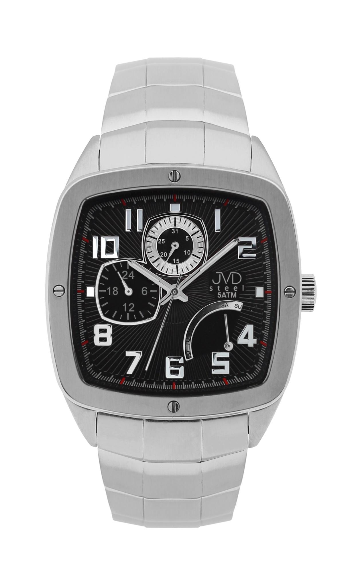 Pánské vodoodolené hranaté exkluzivní náramkové hodinky J1021.3 - 5ATM (POŠTOVNÉ ZDARMA!!)