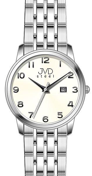 Pánské ocelové voděodolené hodinky JVD steel W67.1 - 5ATM