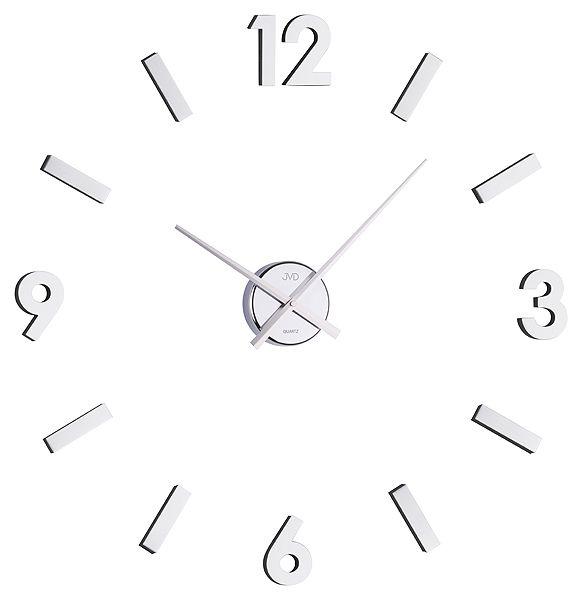 Exkluzivní stříbrné nástěnné nalepovací hodiny JVD HB11 skladem ihned odesíláme