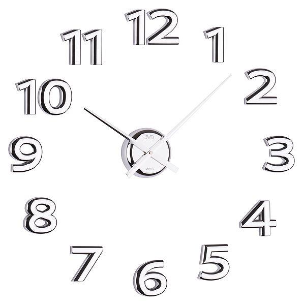 Nalepovací hodiny JVD HB12 - stříbné (Stříbrné exkluzivní luxusní nástěnné nalepovací hodiny JVD HB12 NOVÉ!!)