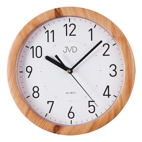Nástěnné hodiny JVD quartz H612. 18 imitace dřeva světlé