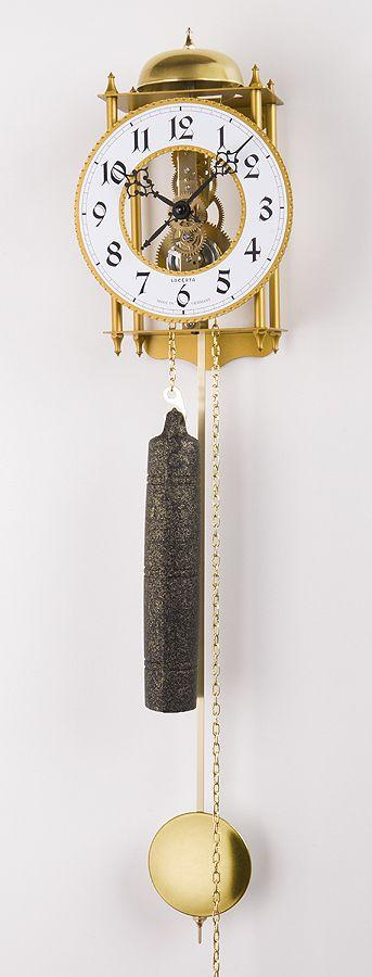 Luxusní kyvadlové kovové mechanické závažové hodiny Lacereta L03