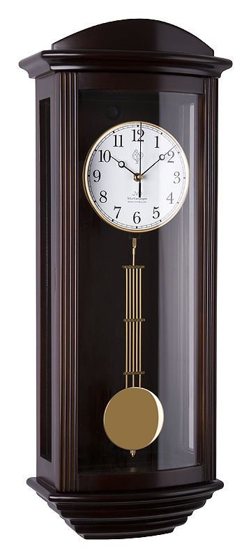 Kyvadlové skříňové rádiem řízené dřevěné hodiny JVD NR2220/23 s melodiemi