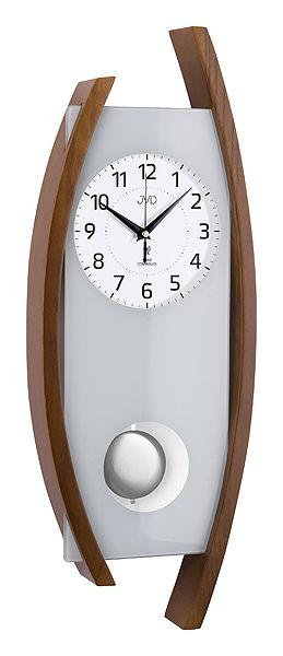 Rádiem řízené dřevěné nástěnné kyvadlové hodiny JVD NR12092/11