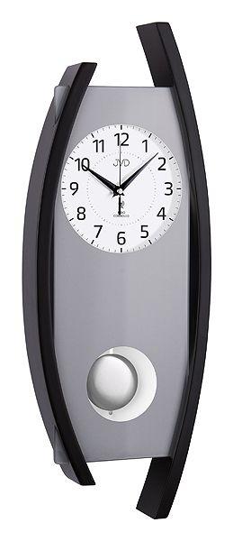 Rádiem řízené dřevěné nástěnné kyvadlové hodiny JVD NR12092/23