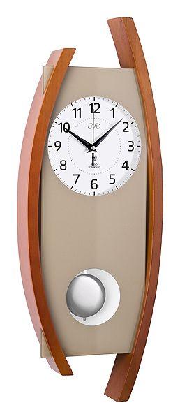 Rádiem řízené dřevěné nástěnné kyvadlové hodiny JVD NR12092/41