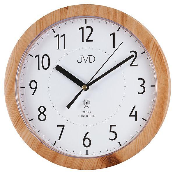 Přesné moderní rádiem řízené hodiny JVD RH612.7 - imitace dřeva