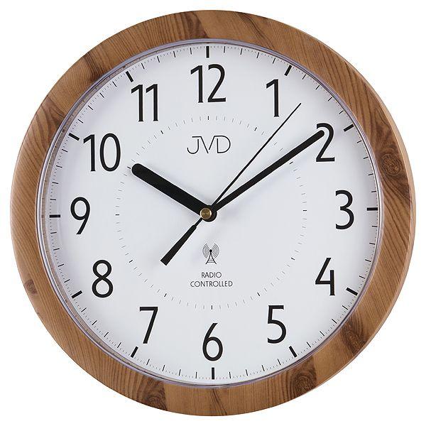 Přesné moderní rádiem řízené hodiny JVD RH612.8 - imitace dřeva