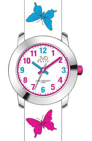Dívčí dětské barevné hodinky JVD basic J7142.6 s motivem motýlka (POŠTOVNÉ ZDARMA!!)