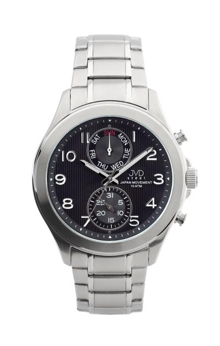 Vodotěsné chronografy ocelové hodinky JVD steel J1097.1