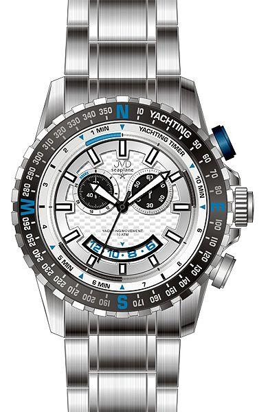 Vodotěsné chronografy ocelové hodinky JVD seaplane J1091.1 - 10ATM