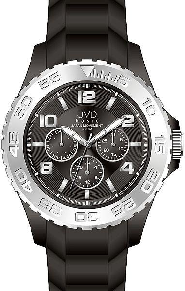 Chronograf pro teenagery voděodolné hodinky JVD basic J3006.3 - 5ATM barevné