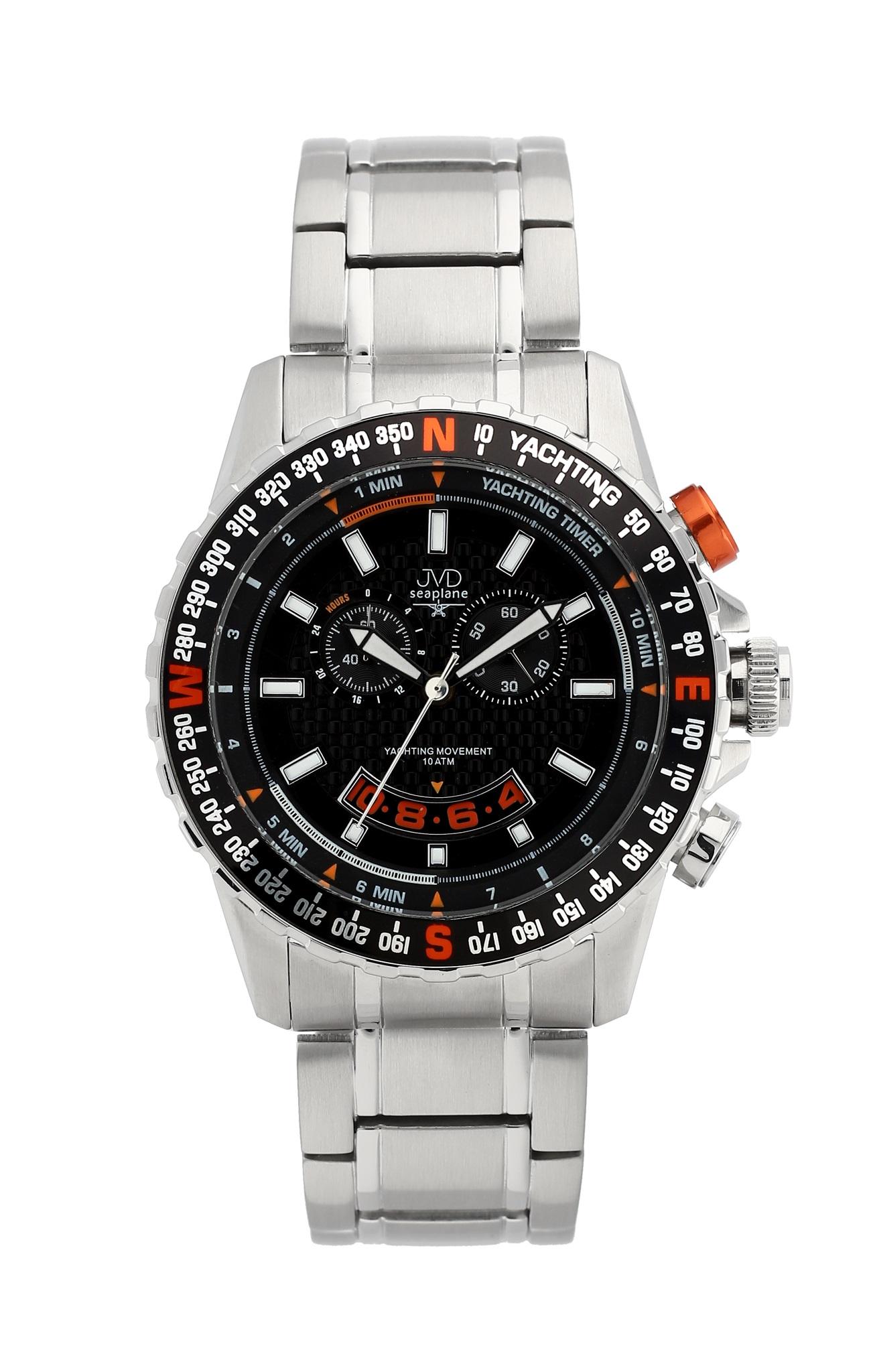 Vysoce odolené sportovní vodotěsné hodinky JVD seaplane J1096.2 - chronograf