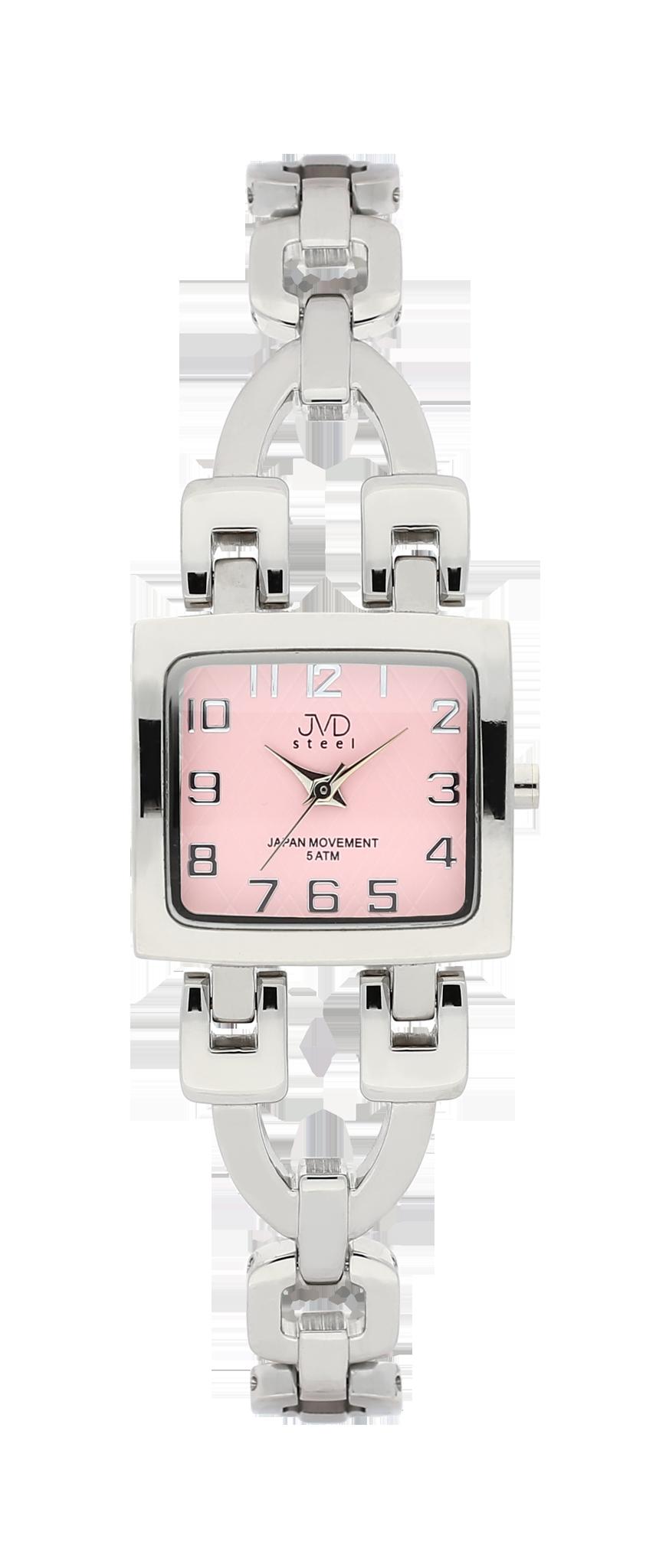 Elegantní hranaté dámské hodinky JVD steel J4127.2 - 5ATM