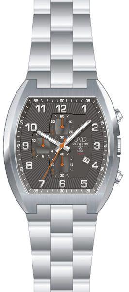 Vodotěsné hranaté ocelové hodinky JVD Seaplane JS20.2 - 10ATM