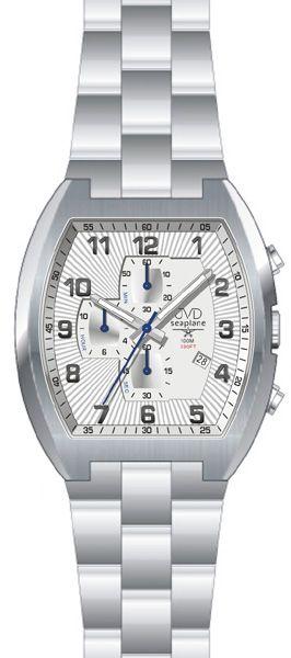 Vodotěsné hranaté ocelové hodinky JVD Seaplane JS20 - 10ATM