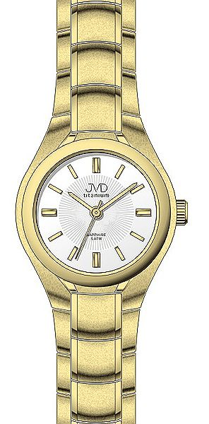 Zlacené titanové moderní náramkové hodinky JVD titanium J5022.1