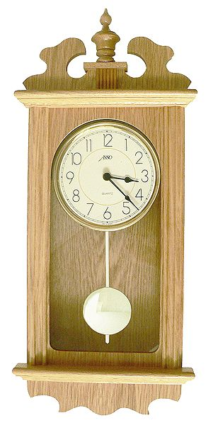 Dřevěné německé Dřevěné nástěnné hodiny ASSO A19/2909/6