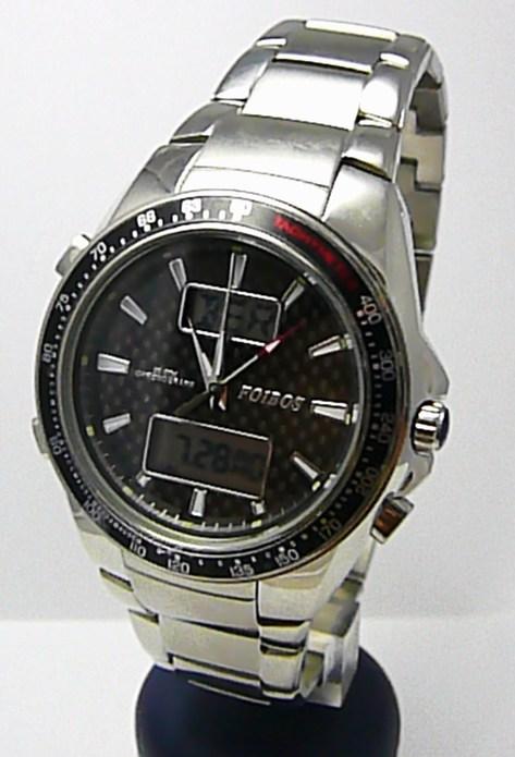 Mohutné pánské luxusní vodotěsné hodinky Foibos 10010 20ATM digitální chronograf