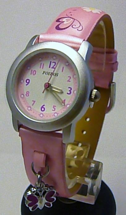 Dětské růžové holčičí hodinky Foibos 1583.2 pro dívky