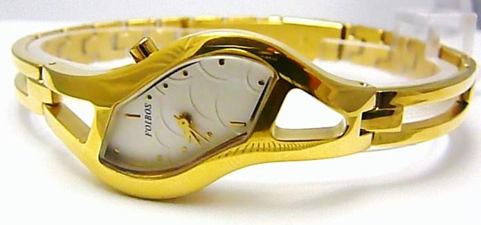 Luxusní dámské elegantní zlacené hodinky Foibos 217651 3ATM