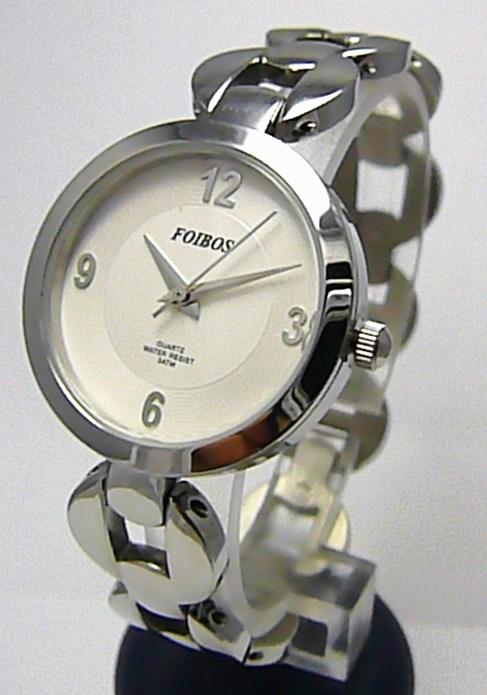 Luxusní stříbrné ocelové dámské hodinky Foibos 2175 se zirkony 3ATM 196fbc682e