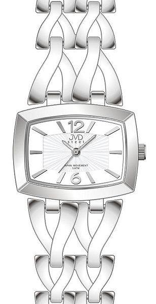 Dámské stříbrné elegantní hodinky voděodolené JVD steel J4070.1