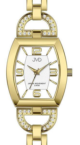 Dámské ocelové zlacené voděodolné hodinky JVD steel J4084.2