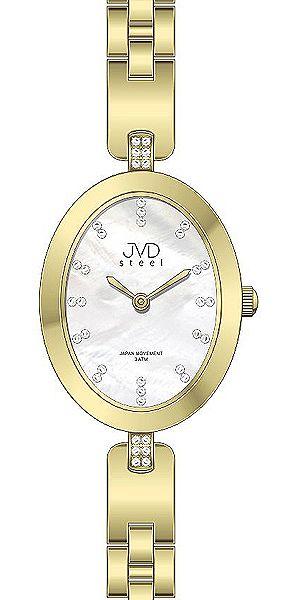 Dámské ocelové elegantní hodinky JVD steel J4095.1 s perleťovým číselníkem