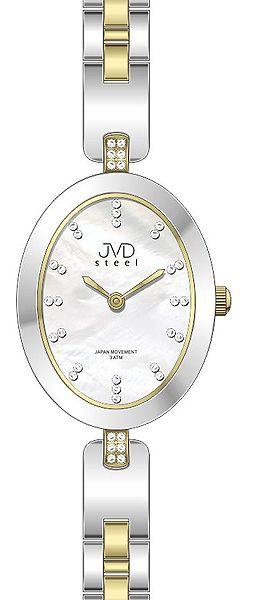 Dámské ocelové elegantní hodinky JVD steel J4095.2 s perleťovým číselníkem