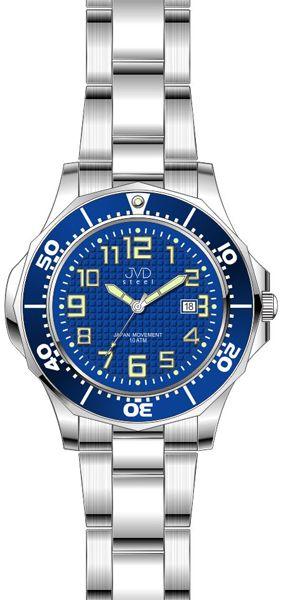 Dámské vodotěsné ocelové hodinky JVD steel J4117.3 do extrémních podmínek 10ATM