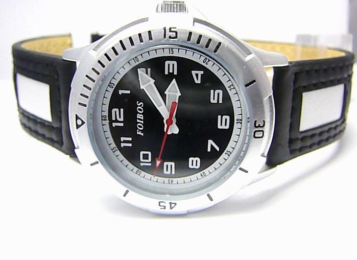 Chlapecké dětské sportovní černobílé moderní hodinky Foibos 2067.3