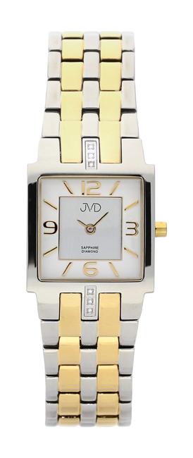 Dámské luxusní hodinky JVD steel J4034.3 s diamanty a safírovým sklem
