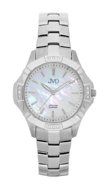 Náramkové hodinky JVD steel J4073.1 s pravými diamanty a safírovým sklem