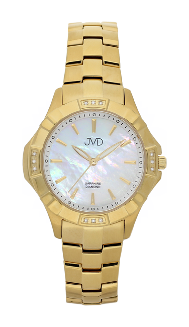 Náramkové hodinky JVD steel J4073.3 s pravými diamanty a safírovým sklem