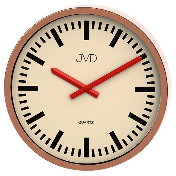 Moderní čitelné nástěnné hodiny JVD quartz H306.2