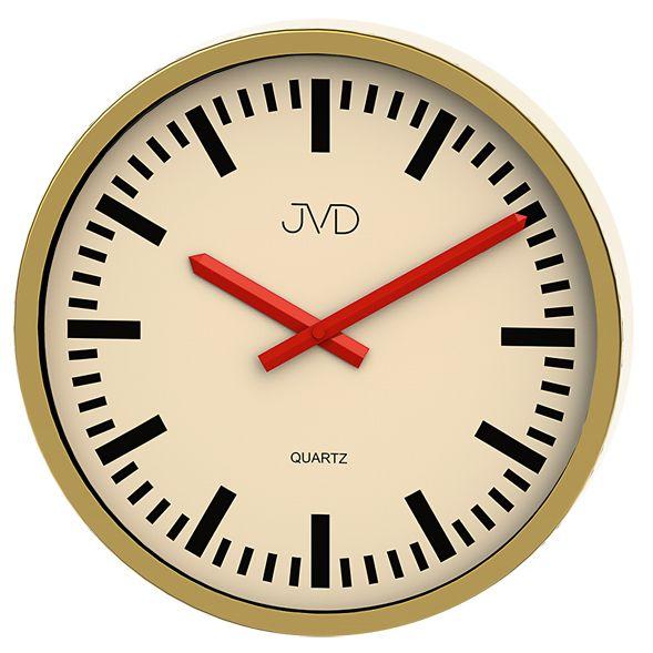 Moderní čitelné nástěnné hodiny JVD quartz H306.3