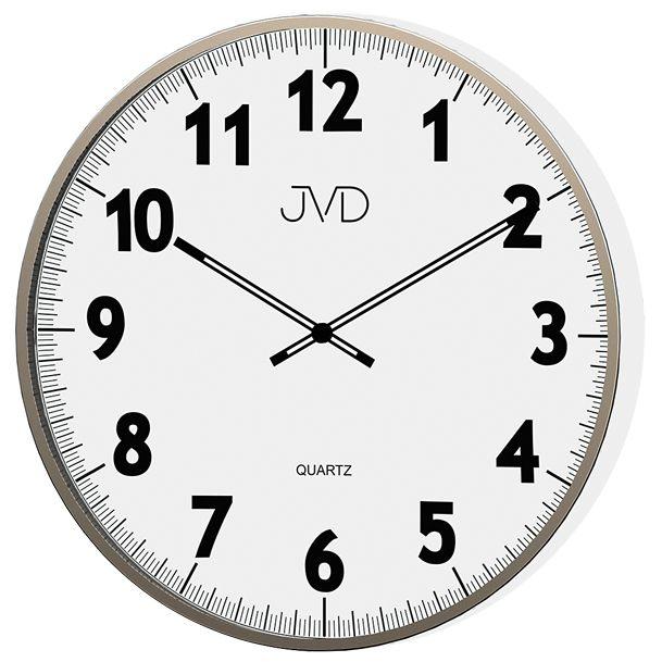 Kovové designové nástěnné hodiny JVD quartz H13.1 - průměr 38cm