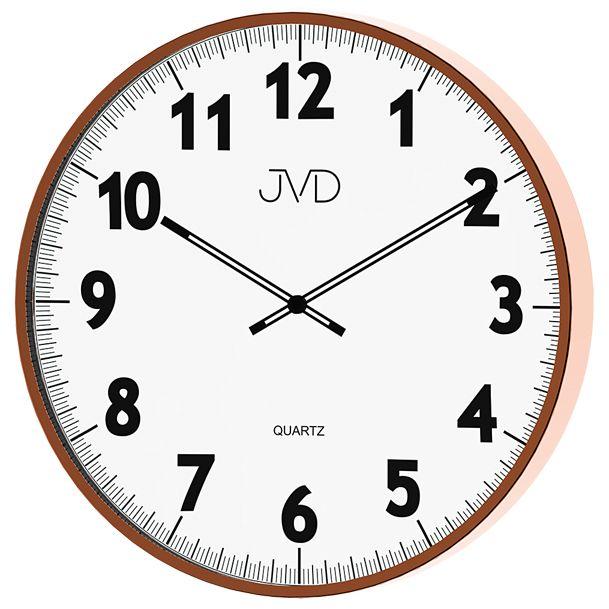 Kovové designové nástěnné hodiny JVD quartz H13.2 - průměr 38cm